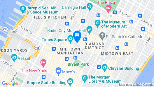 The Kimpton Muse Hotel Map