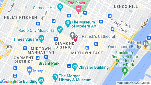 The Towers at Lotte New York Palace Map