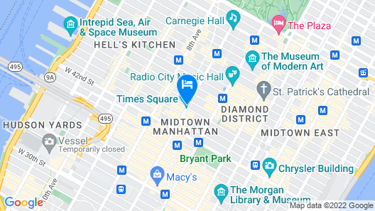 New York Marriott Marquis Map