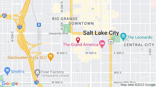Crystal Inn Hotel & Suites Salt Lake City - Downtown Map