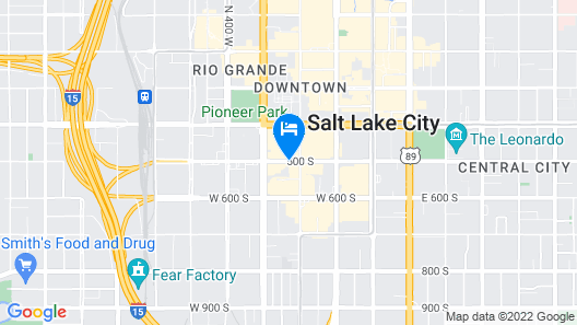 Crystal Inn Hotel & Suites Salt Lake City - Downtown Map