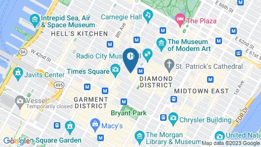 Sanctuary Hotel New York Map