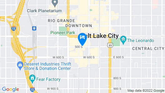 Sheraton Salt Lake City Hotel Map