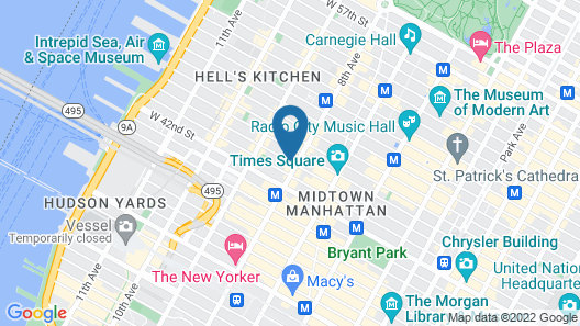 InterContinental - New York Times Square, an IHG Hotel Map