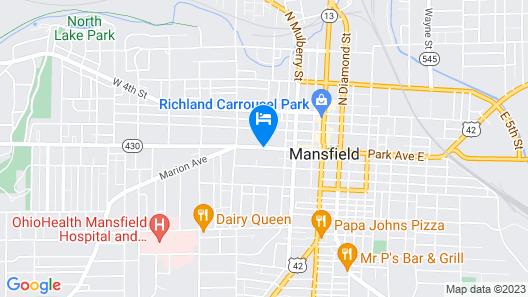 M Star Hotel Mansfield Map
