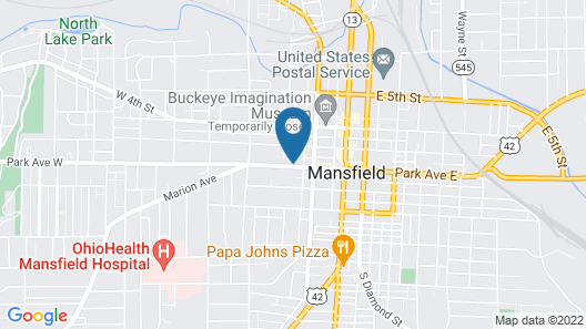 Holiday Inn Hotel & Suites Mansfield-Conference Center, an IHG Hotel Map