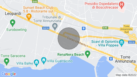Villa Francois a few Meters From the Main Street of Torre Annunziata Map