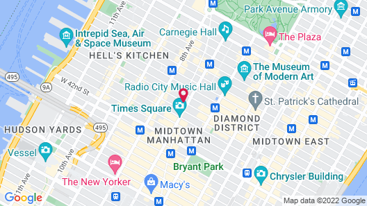 W New York - Times Square Map