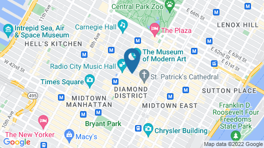 Radisson Hotel New York Midtown-Fifth Avenue Map
