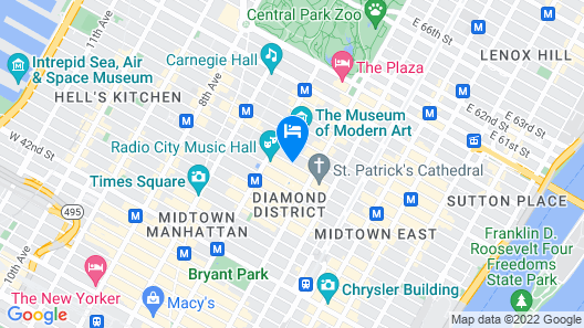 Radisson Hotel New York Midtown-Fifth Avenue Map