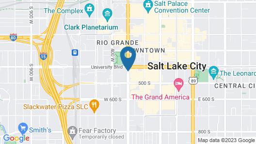 Hampton Inn Salt Lake City - Downtown Map
