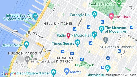 Hotel Riu Plaza New York Times Square Map
