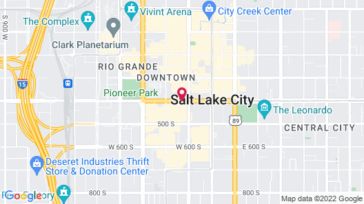Fairfield Inn and Suites by Marriott Salt Lake City Downtown Map
