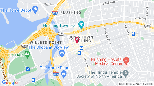 Flushing Central Hotel Map