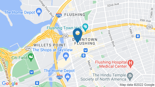 Asiatic Hotel by LaGuardia Airport Map