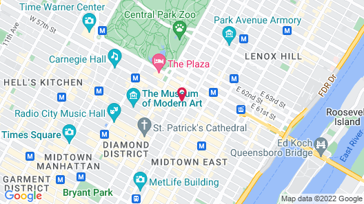 Four Seasons Hotel New York Map