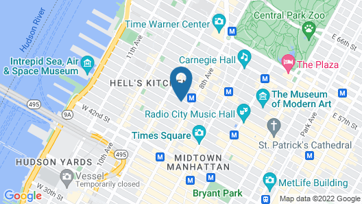 Hells Kitchen Apartments 30 Day Rentals Map