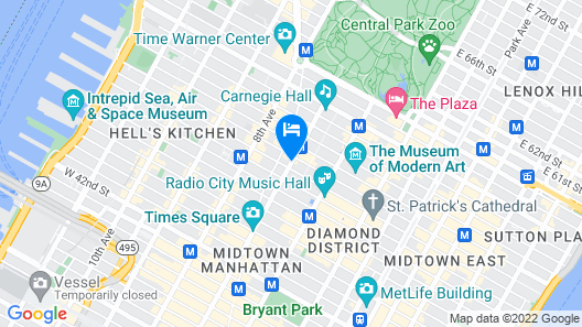 The Manhattan at Times Square Hotel Map