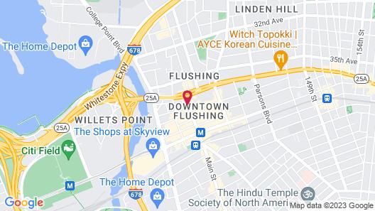 Flushing Hotel Map