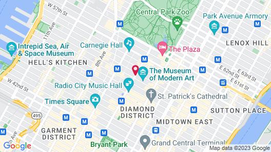 The Hilton Club - New York Map