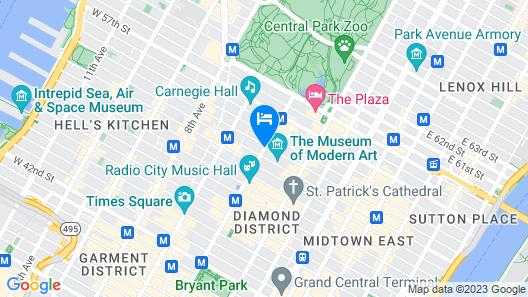 New York Hilton Midtown Map