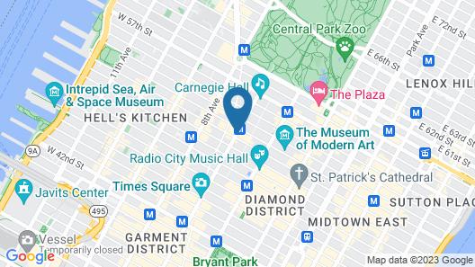 Sheraton New York Times Square Hotel Map