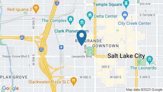 Homewood Suites by Hilton Salt Lake City-Downtown Map