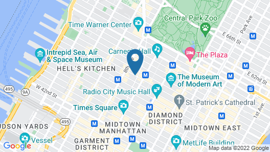 M Social Hotel Times Square New York Map