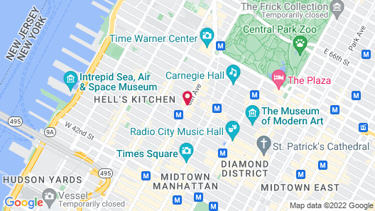 Hampton Inn Times Square North Map