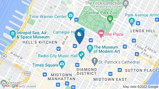Conrad New York Midtown Map