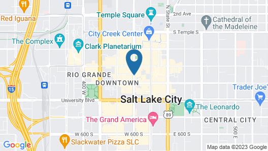 Hilton Salt Lake City Center Map