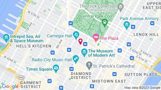 Thompson Central Park - New York Map