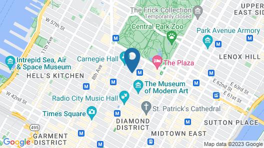 Parker New York, A Hyatt Affiliate Property Map