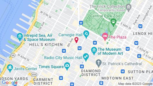 Ameritania at Times Square Map