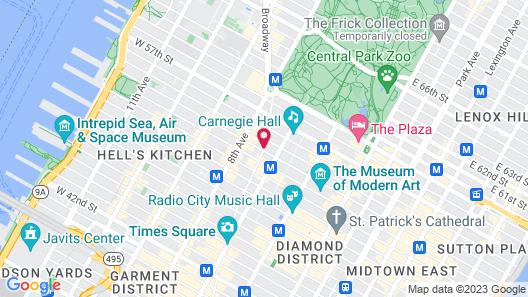 Courtyard by Marriott New York Manhattan / Central Park Map