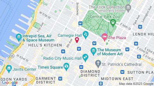 Residence Inn New York Manhattan/Central Park Map