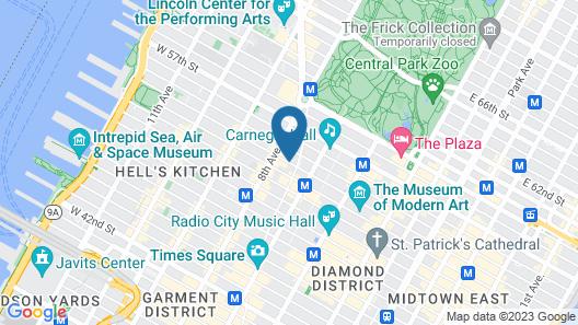 Hilton Garden Inn New York/Central Park South-Midtown West Map