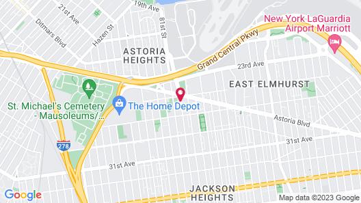 Airway Inn at LaGuardia Map