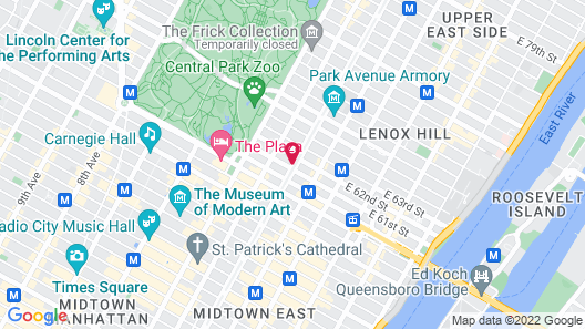 Loews Regency New York Hotel Map