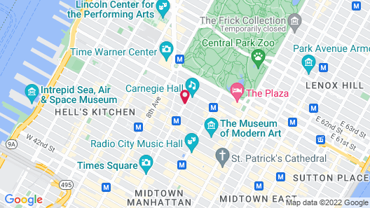 Park Central Hotel New York Map
