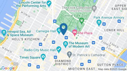 Le Meridien New York, Central Park Map