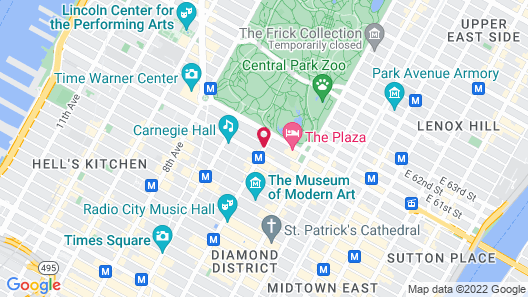 1 Hotel Central Park Map
