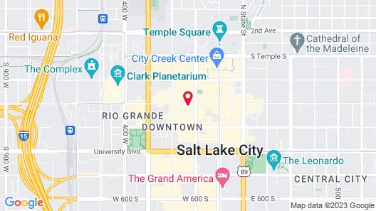 Holiday Inn Express Salt Lake City Downtown, an IHG Hotel Map