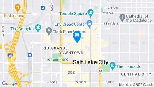 Holiday Inn Express Salt Lake City Downtown Map