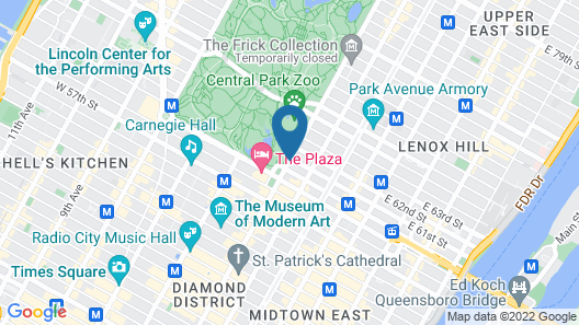The Pierre, A Taj Hotel, New York Map