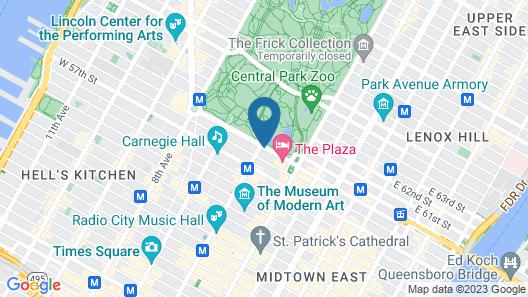 The Ritz-Carlton New York, Central Park Map