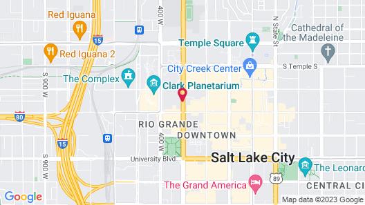 Hyatt House Salt Lake City Downtown Map