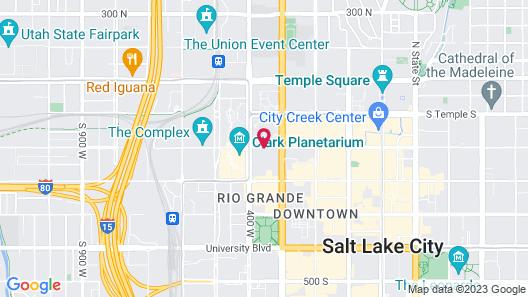Courtyard Salt Lake City Downtown Map