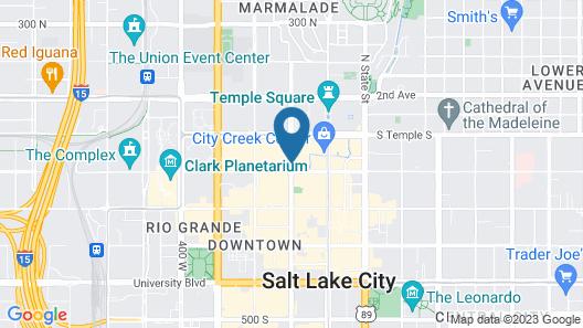 Salt Lake Marriott Downtown at City Creek Map