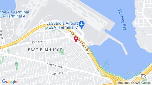 LaGuardia Plaza Hotel Map